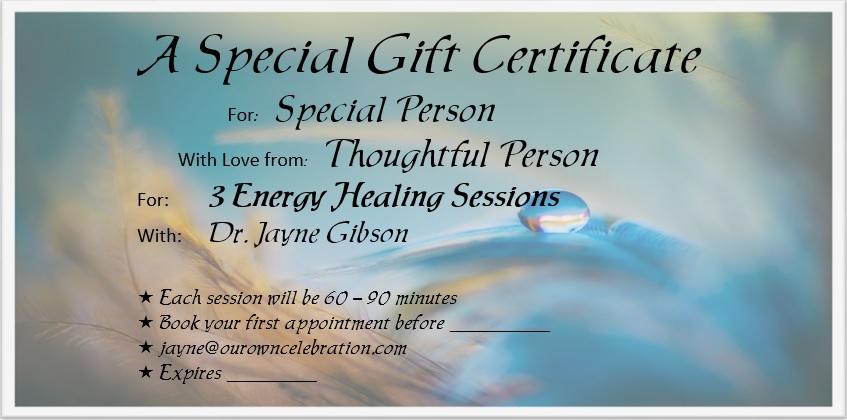 Gift Certificate - Healing